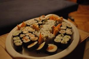 atsidėkodamas keliautojas visada daro suši